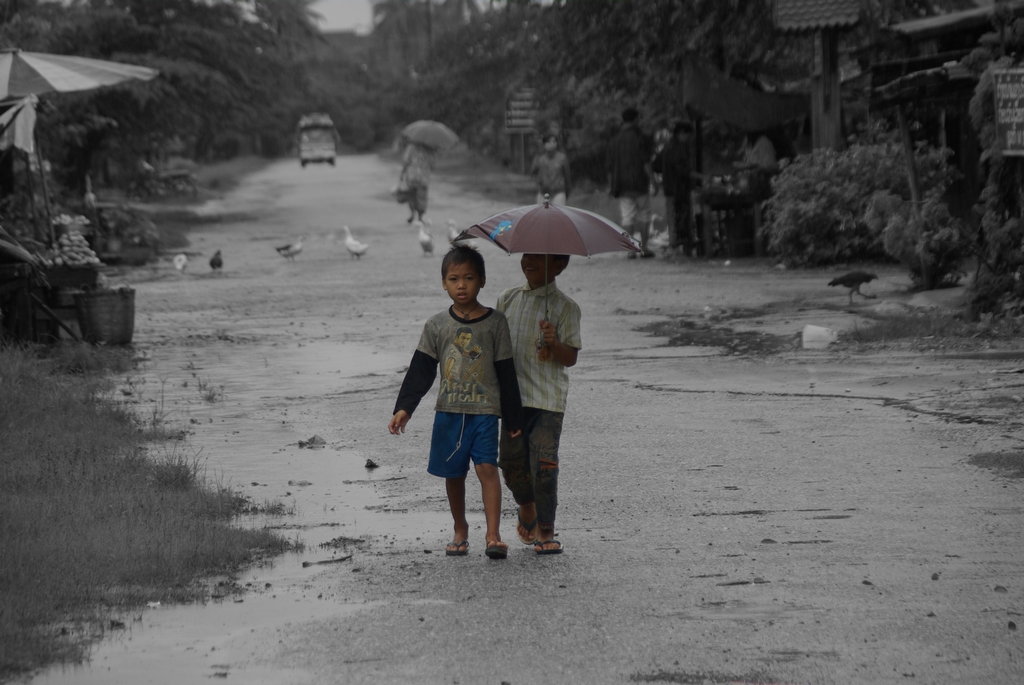 Sous la pluie, Laos