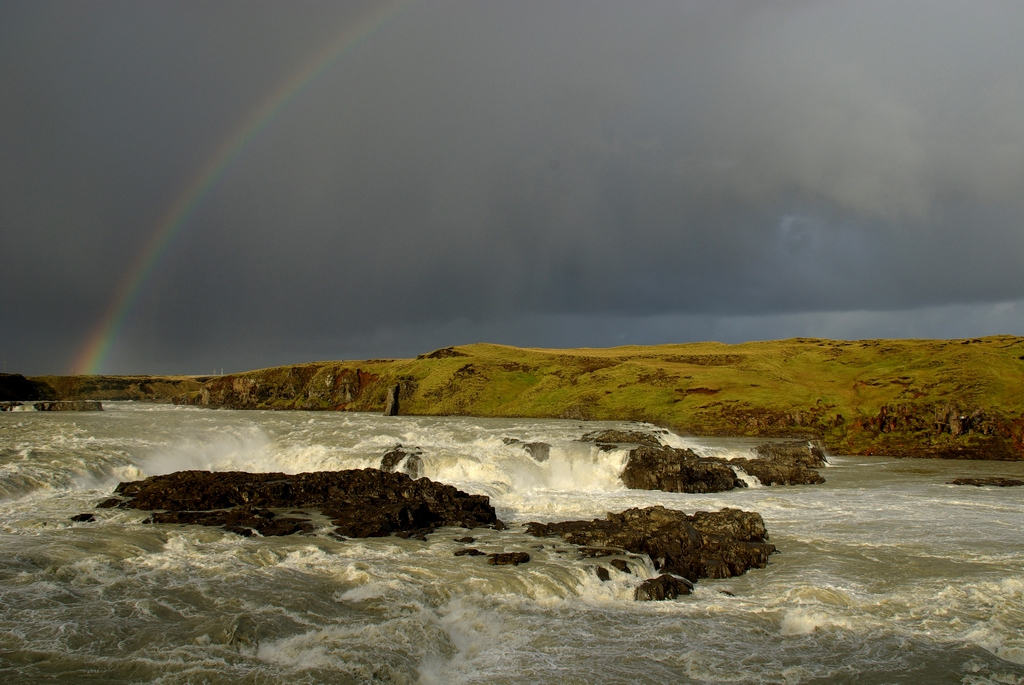 Le temps est très changeant en Islande, et les arcs en ciel sont légions