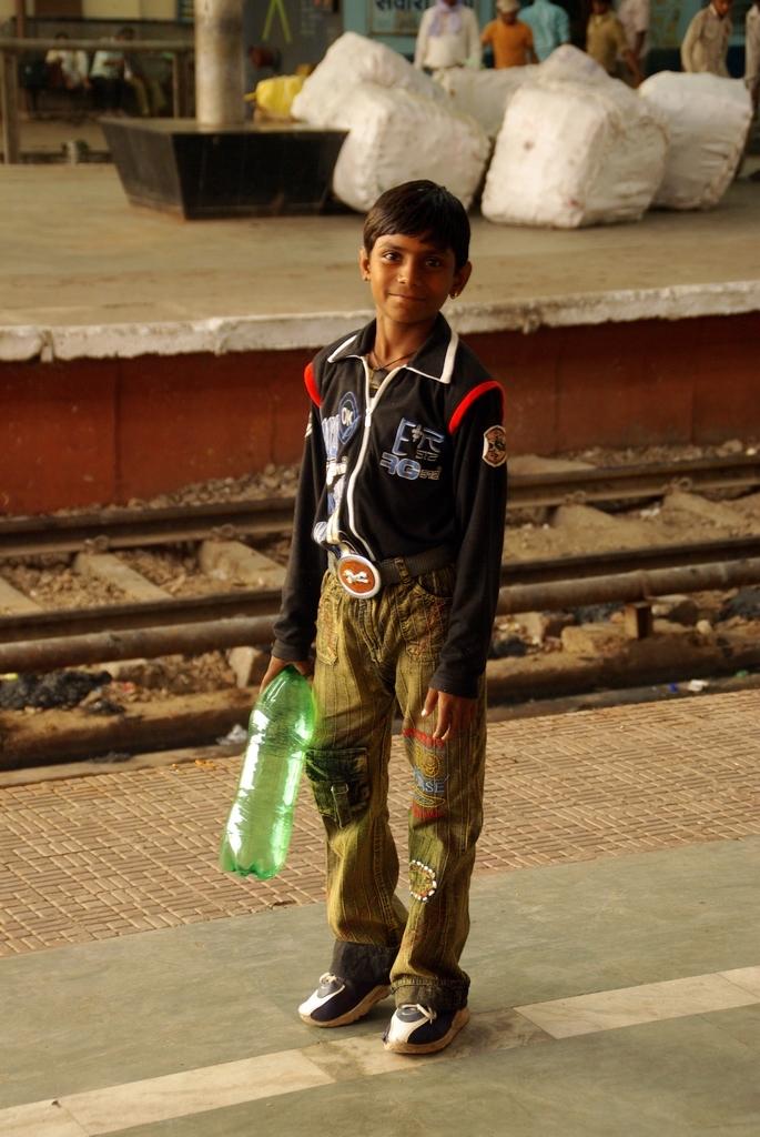 Portrait dans une gare