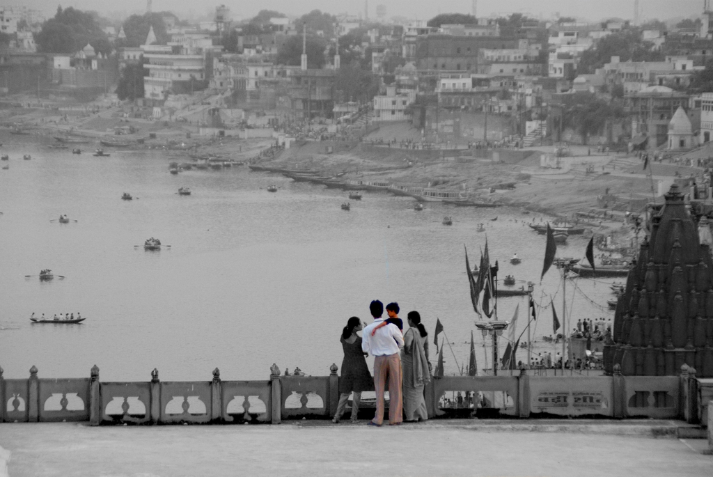 Vue des toits, Benarès - Inde