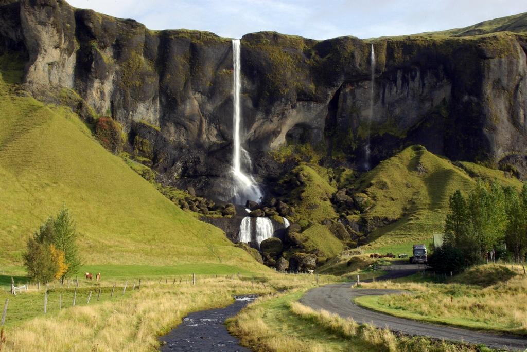 Une des nombreuses chutes d'eau islandaises