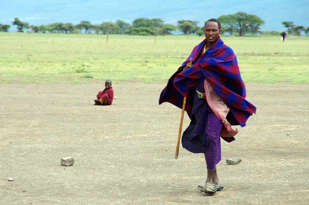 Les Masaï ne s'habillent pas toujours en rouge.