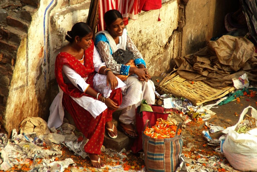 Marché aux fleurs - Calcutta