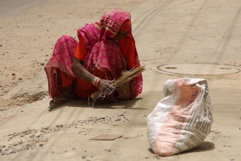 Balayeuse de rue - Calcutta