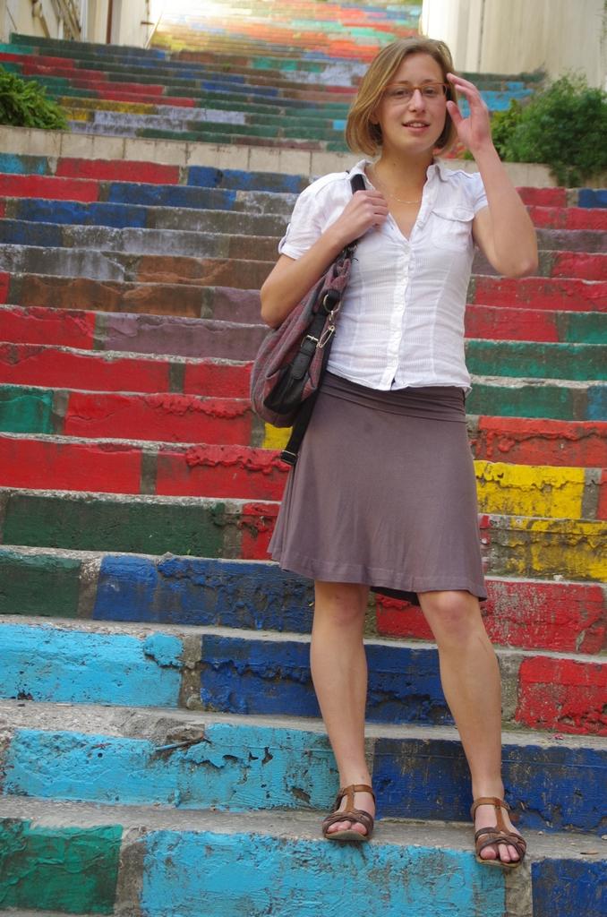 Les escaliers colorés sont un des aspects les plus connus de la ville