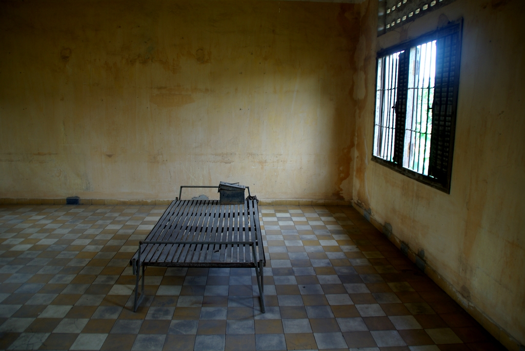 Ancienne école devenue centre d'extermination, S21 est un endroit lugubre à l'ambiance pesante, Cambodge