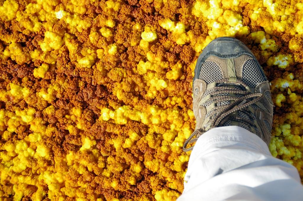 """Le sol """"croustille"""" sous les pieds"""