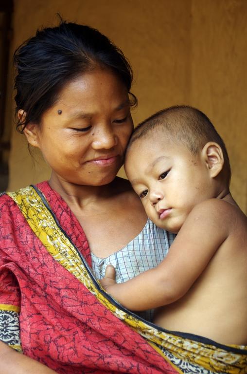 Mère et son enfant - Srimangal