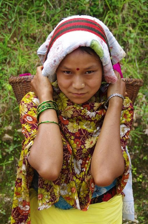 De retour des champs - Népal