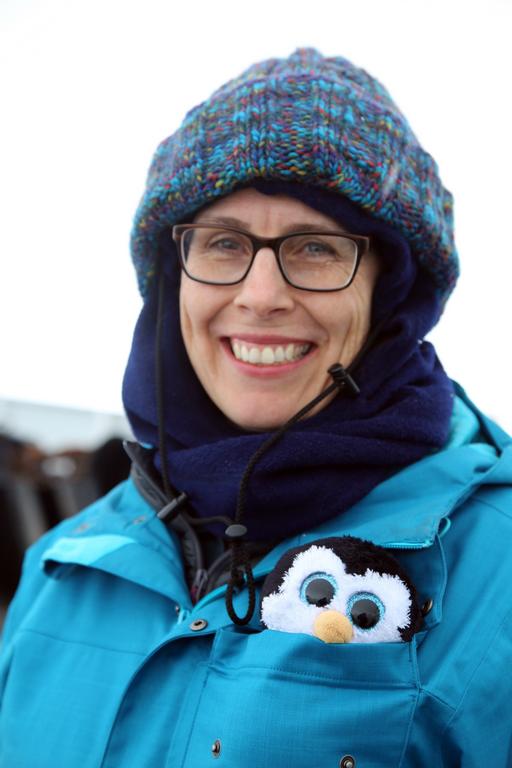 Portrait de voyageuse - Antarctique