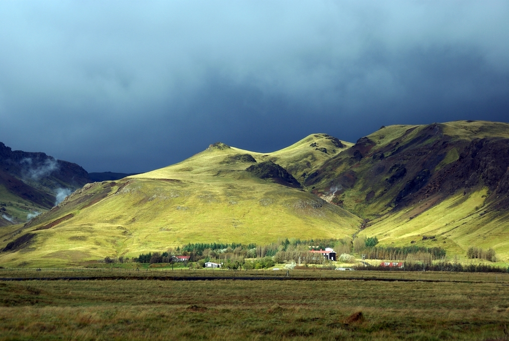 Eclairage divin, avant la pluie - Islande