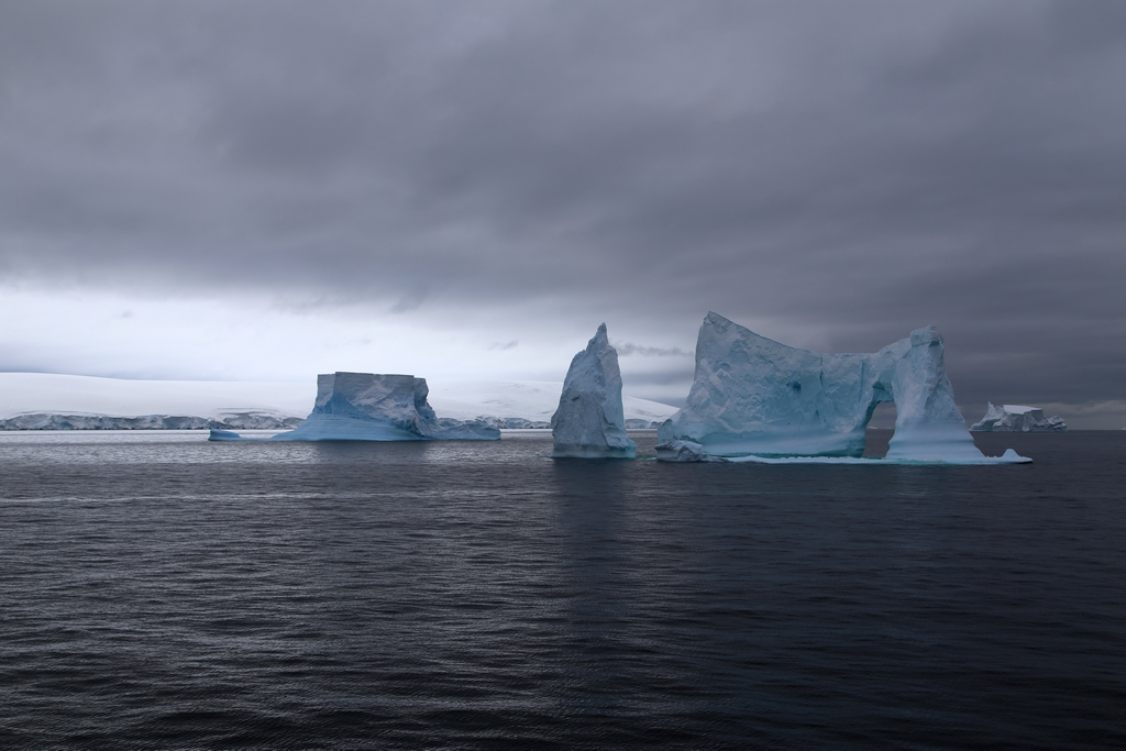 Icebergs, Antarctique