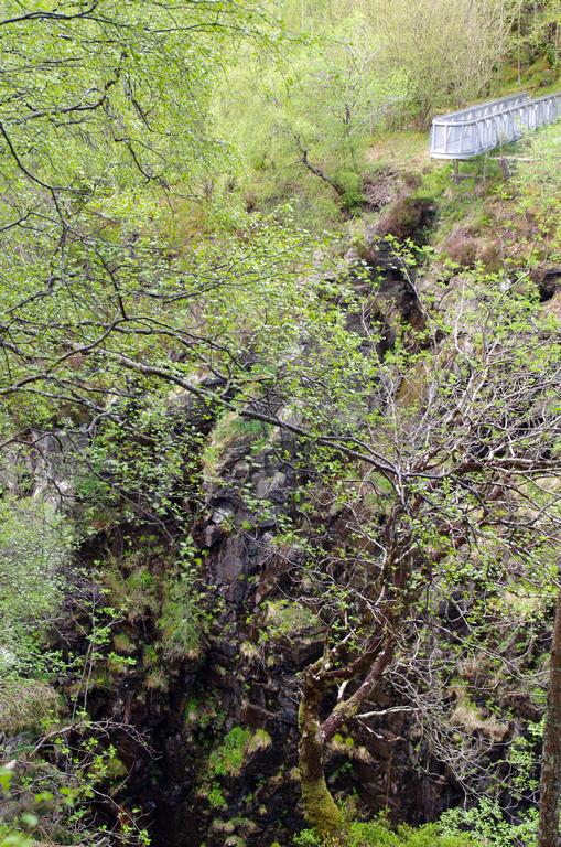 Une passerelle au-dessus d'une chute de 50 m - Ecosse