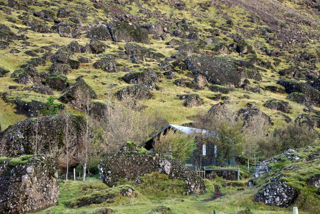 Les islandais sont parfois téméraires ! Il ne faut pas avoir peur des chutes de pierres pour résider ici.