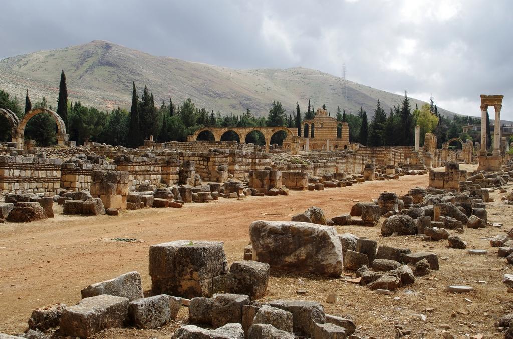 Aanjar, à proximité de la frontière syrienne