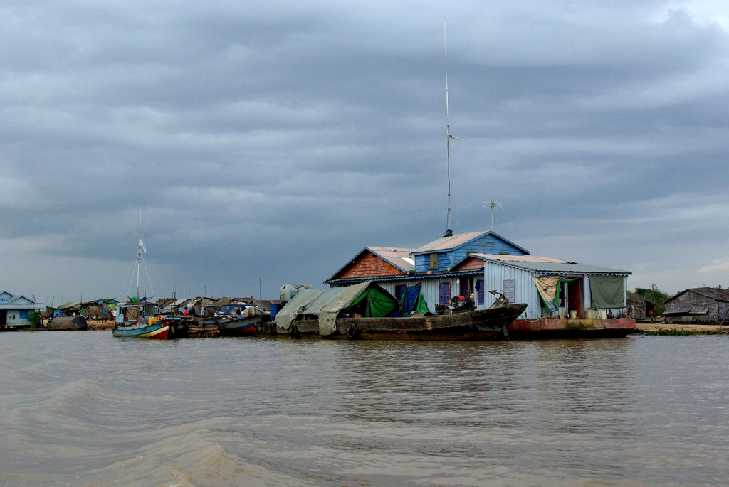 Village flottant, sur les rives du Tonlé Sap