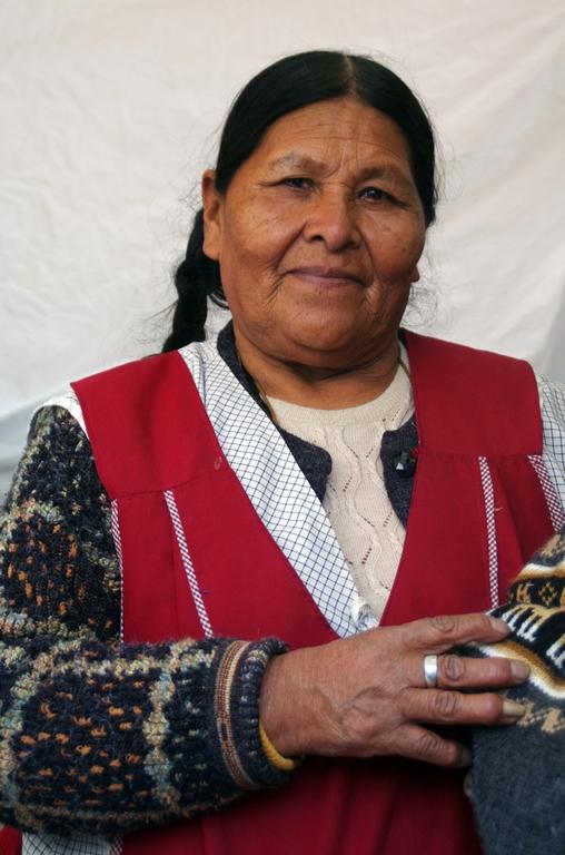 Vendeuse dans un marché - Orouro, Bolivie
