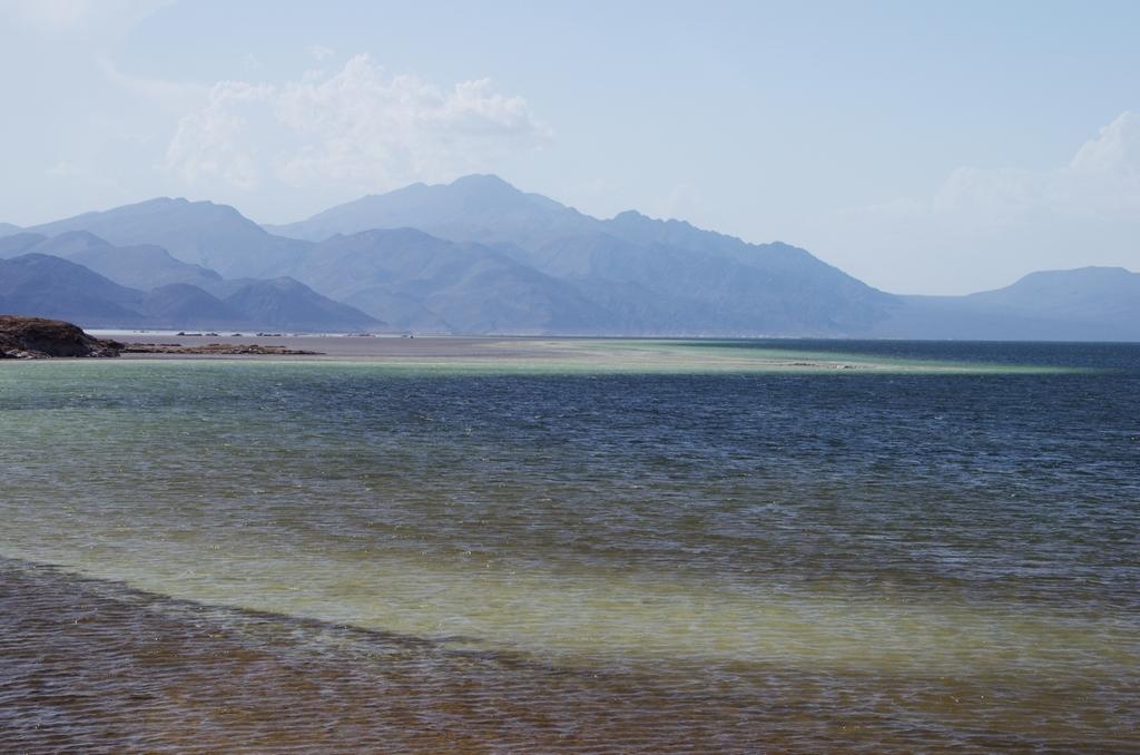 Situé à 153 metres sous le niveau de la mer, le lac Assal est dix fois plus salé que l'océan Atlantique - Djibouti