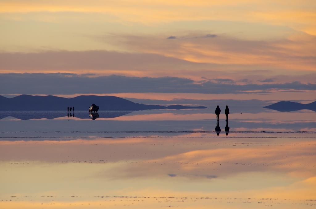 Lever de soleil sur les salaars - Bolivie