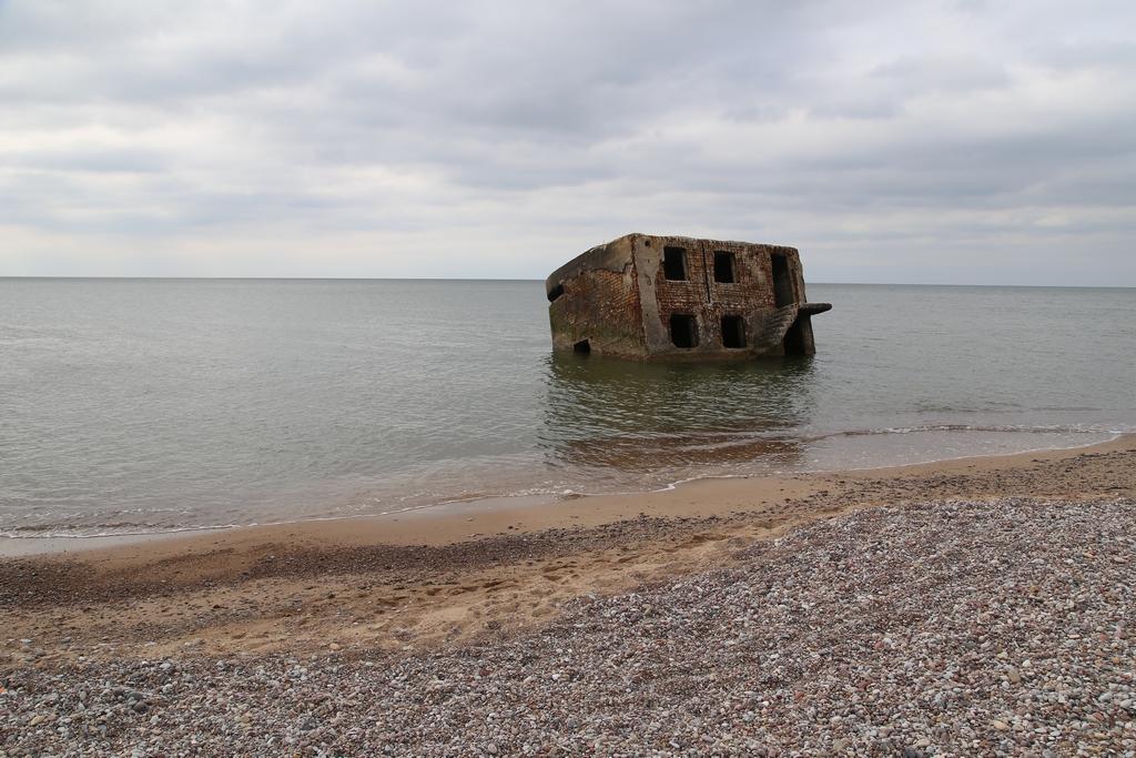 Érosion du littoral, base sous marine russe désafectée de Karosta - Lettonie