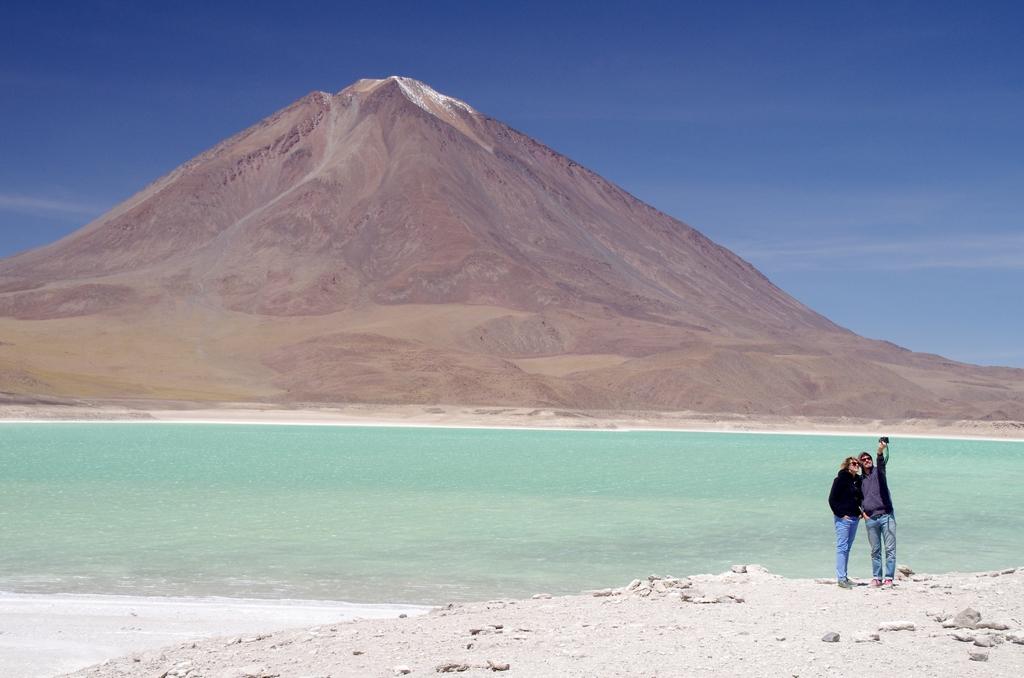 Lac vert - Altiplano, Bolivie