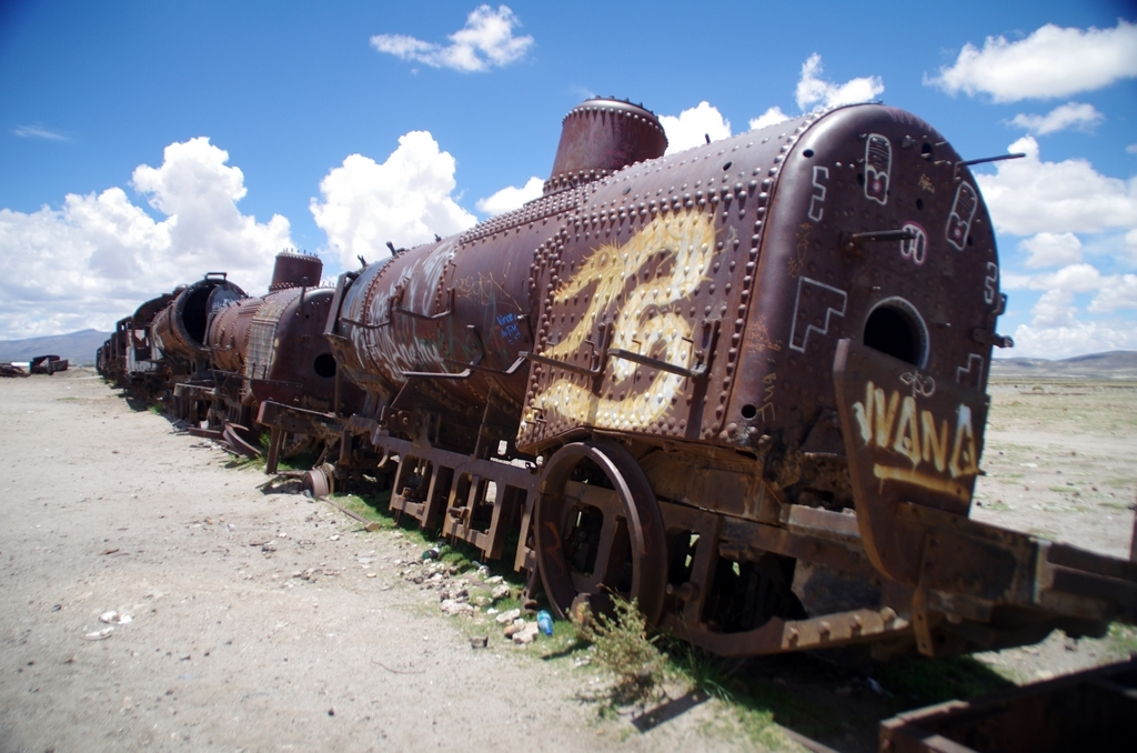 Cimetière des trains, Salar d'Uyuni - Bolivie