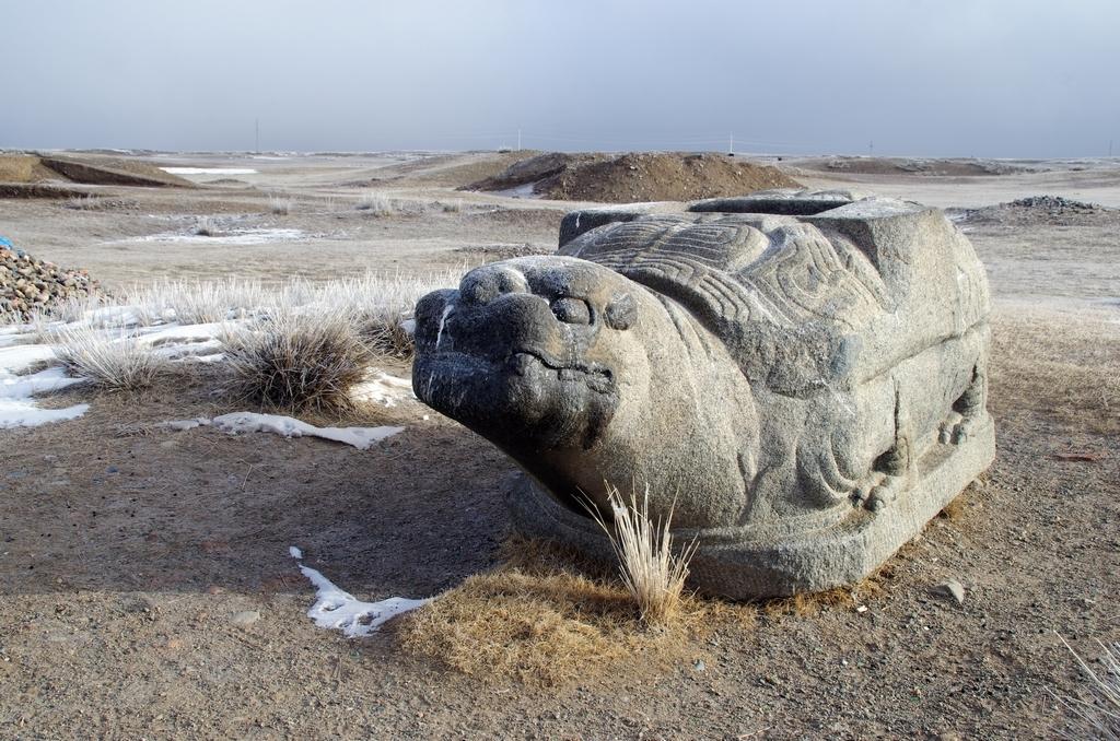 Cette tortue est symbole de longévité. Elle était à une des portes de Karkorum