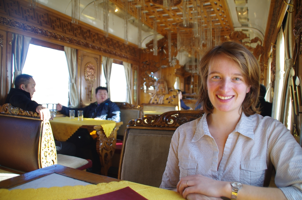 Wagon restaurant, à bord du transmongolien